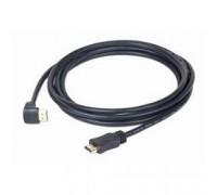 Кабель HDMI Gembird, 4.5м, v1.4, 19M/19M, угл. раз.,черный, позол.раз., экран, пакет CC-HDMI490-15