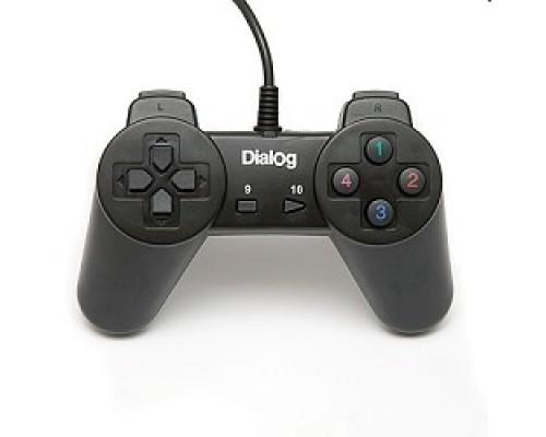 Dialog Action GP-A01, черный Геймпад, 10 кнопок, USB