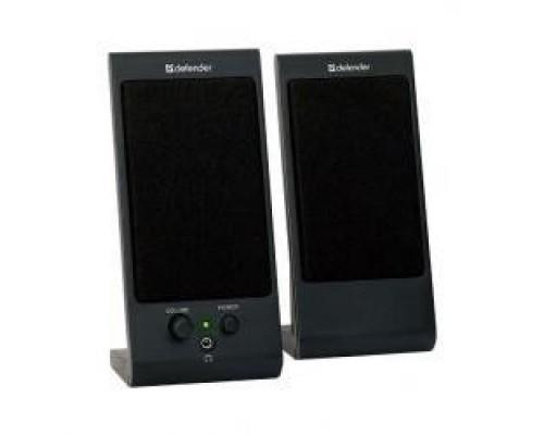 Defender SPK 165 /170 черные 2.0, 2х2 W, разъем для наушников, USB 65165