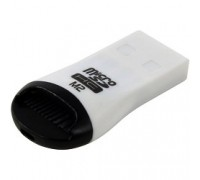 USB 2.0 Card Reader Micro ORIENT CR-012 black/white/red, для карт Micro SD, ext 29681