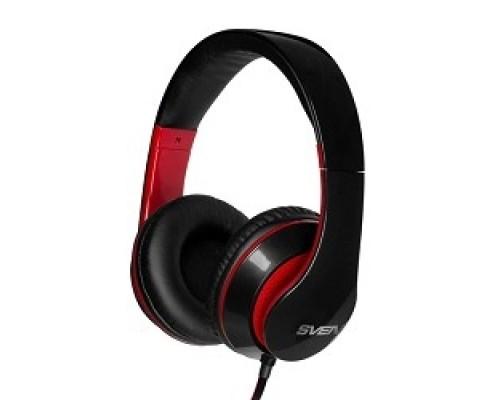 Наушники SVEN AP-940MV черный-красный микрофоном