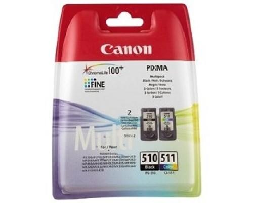 Расходные материалы Canon PG-510/CL-511 2970B010 Картридж для PIXMA MP240/260/480, MX320/330, цвета, 244 стр.