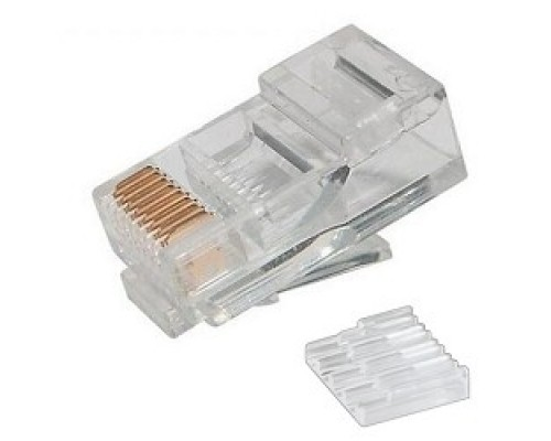 Коннектор UTP RJ45 под однож. кабель (с вставкой), Кат.5 (100шт.) P88RB03V2I