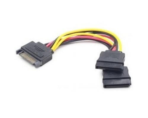 Gembird/Cablexpert питания SATA, 15см, 15pin (M)/2x15pin(F), на 2 SATA устр (CC-SATAM2F-01)