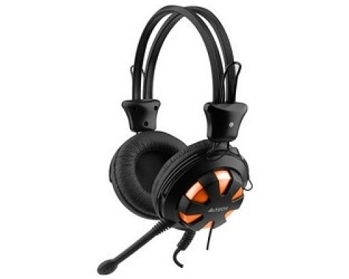 Наушники A4Tech HS-28-3 567949 orange/Black Гарнитура стерео 1.8 м