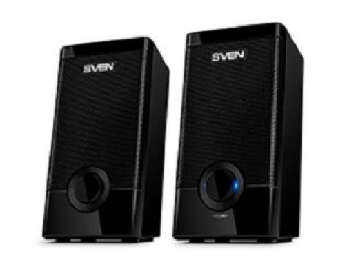 Колонки SVEN 318 черный USB-порт ПК, ноутбука или адаптер 5V DC