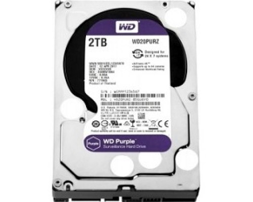 2TB WD Purple (WD20PURZ) Serial ATA III, 5400- rpm, 64Mb, 3.5