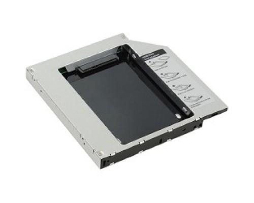 Контейнер для HDD AgeStar SSMR2S Сменный бокс HDD/SSD SATA-SATA, металл-пластик, черный, 2.5