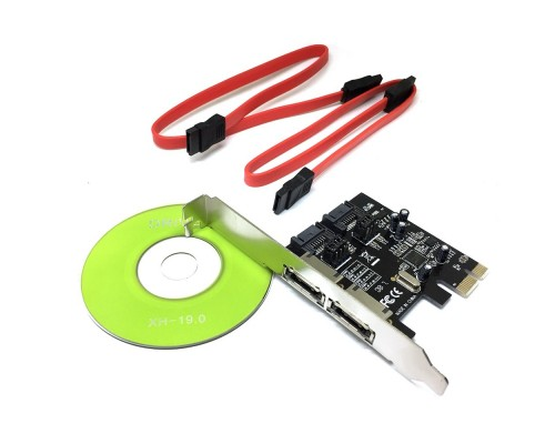 Контроллер Espada PCI-E, SATA3 2 int + ext, ASM1061