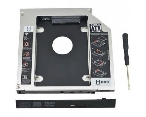 """ORIENT Адаптер UHD-2SC12, для 2.5"""" SATA HDD для установки в SATA отсек оптического привода ноутбука 12.7 мм (30263)"""