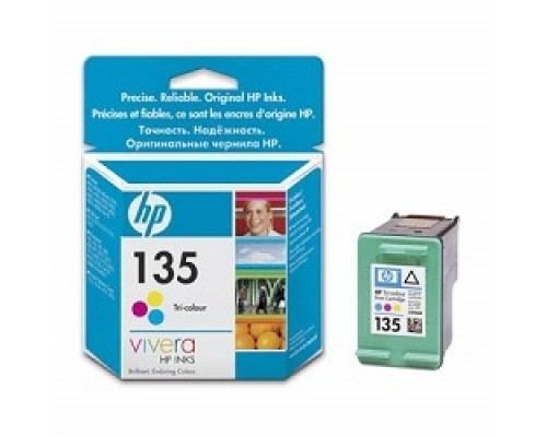 HP C8766HE Картридж №135, Color DJ 6543/5743/5740/6843, PS 325/375/8153/8453, Color (7ml)