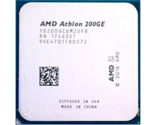 CPU AMD Athlon 200GE OEM 3.2 GHz/2core/1+4Mb/SVGA RADEON Vega 3/35W/Socket AM4
