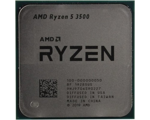 CPU AMD Ryzen 5 3500 OEM 3.6GHz up to 4.1GHz/6x512Kb+16Mb, 6C/6T, Matisse, 7nm, 65W, unlocked, AM4