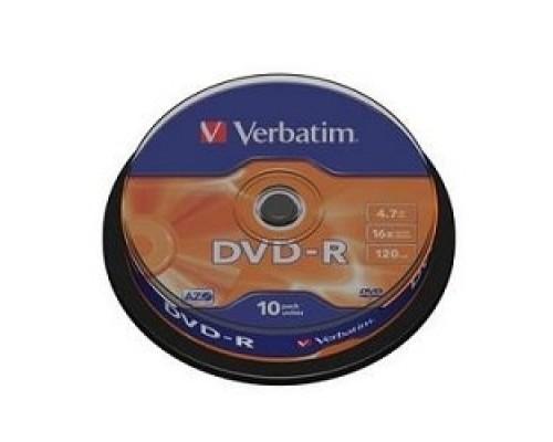 Диск Verbatim Диски DVD-R 4.7Gb 16х, 10 шт, Cake Box