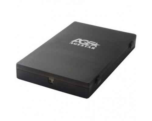 AgeStar SUBCP1 (BLACK) Корпус Black / Пластик / USB 2.0 / SATA Внешний бокс HDD/SSD 2.5