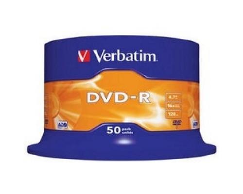 Verbatim и DVD-R 4.7Gb 16-х, 50шт, Cake Box (43548)