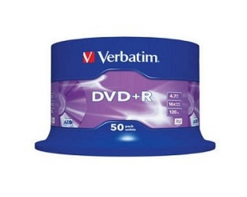 Диск Verbatim Диски DVD+R 4.7Gb 16-х , 50 шт, Cake Box